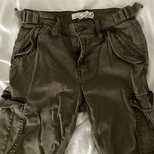 Army Green H&M Cargo Pants